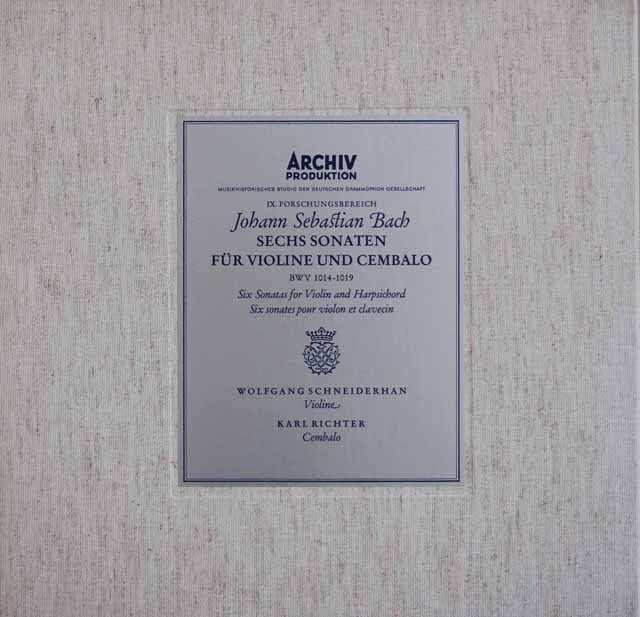 LP レコード シュナイダーハン&リヒターのバッハ/ヴァイオリンと ...