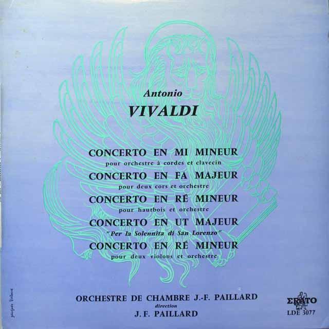 LP レコード パイヤールのヴィヴァルディ/協奏曲「聖ロレンツォの祝日 ...