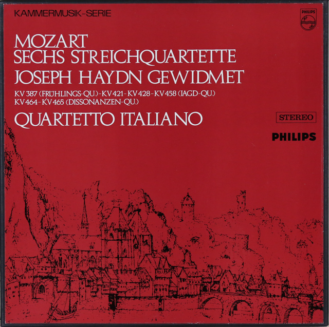 LP レコード イタリア四重奏団の...